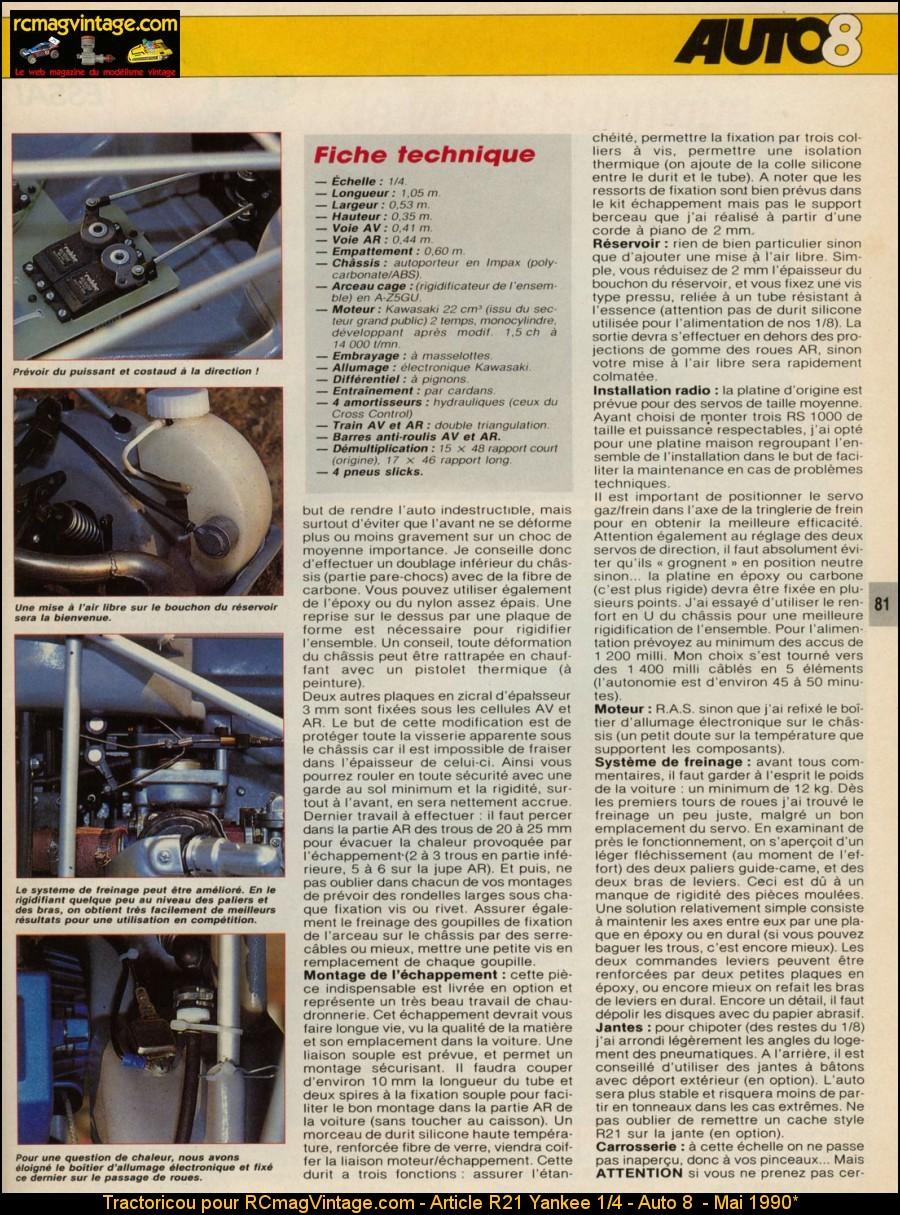 article r21 yankee 1 4 auto 8 mai 1990. Black Bedroom Furniture Sets. Home Design Ideas